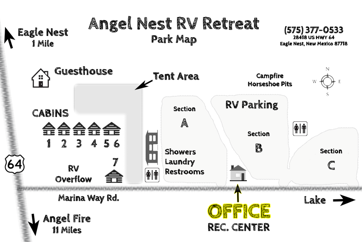 Angel Nest RV Retreat Park Map